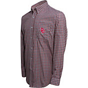 Campus Specialties Men's Oklahoma Sooners Multi-Checkered Woven Long Sleeve Shirt