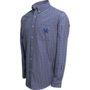 Campus Specialties Men's Kentucky Wildcats Multi-Checkered Woven Long Sleeve Shirt