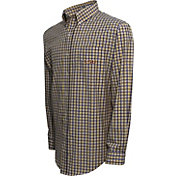 Campus Specialties Men's LSU Tigers Purple Multi-Checkered Woven Long Sleeve Shirt