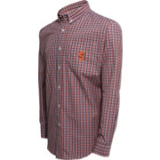Campus Specialties Men's Syracuse Orange Blue Multi-Checkered Woven Long Sleeve Shirt