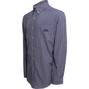 Campus Specialties Men's TCU Horned Frogs Purple Multi-Checkered Woven Long Sleeve Shirt