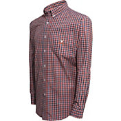 Campus Specialties Men's Virginia Cavaliers Blue Multi-Checkered Woven Long Sleeve Shirt