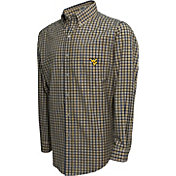 Campus Specialties Men's West Virginia Mountaineers Multi-Checkered Woven Long Sleeve Shirt