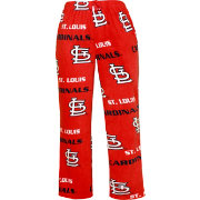 Concepts Sport Men's St. Louis Cardinals All-Over Logo Red Sleepwear Pants