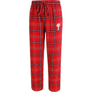 Concepts Sport Men's Philadelphia Phillies Red/Navy Plaid Flannel Pajama Pants