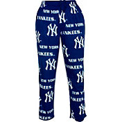Concepts Sport Men's New York Yankees All-Over Logo Navy Sleepwear Pants