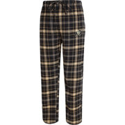 Concepts Sport Men's Colorado Buffaloes Black/Gold Ultimate Plaid Sleep Pants