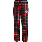 Concepts Sport Men's Georgia Bulldogs Black/Red Ultimate Plaid Sleep Pants
