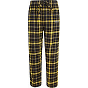 Concepts Sport Men's Oregon Ducks Black/Gold Ultimate Plaid Sleep Pants