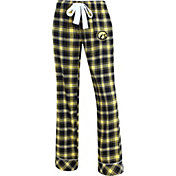 Concepts Sport Women's Iowa Hawkeyes Black/Gold Captivate Plaid Sleep Pants