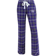 Concepts Sport Women's Washington Huskies Purple/Black Captivate Plaid Sleep Pants