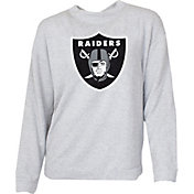 G-III for Her Women's Oakland Raiders Terry Grey Crew Top