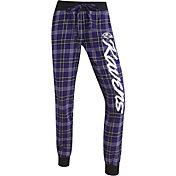 Concepts Sports Women's Baltimore Ravens Purple/Black Flannel Jogger Pants