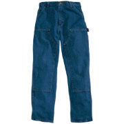 Carhartt Men's Double Front Washed Denim Logger Dungarees