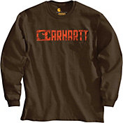 Carhartt Men's Graphic Block Logo Long Sleeve T-Shirt
