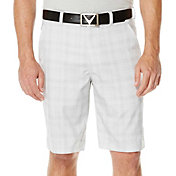 Callaway Men's Flat Front Plaid Tech Golf Shorts - Big & Tall