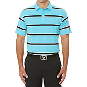 Callaway Men's Rugby-Striped Golf Polo