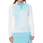 Callaway Women's Printed Quarter-Zip Printed Golf Pullover