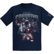 Dallas Cowboys Merchandising Youth Marvel Navy T-Shirt