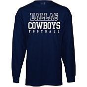 Dallas Cowboys Merchandising Youth Practice Navy Long Sleeve Shirt