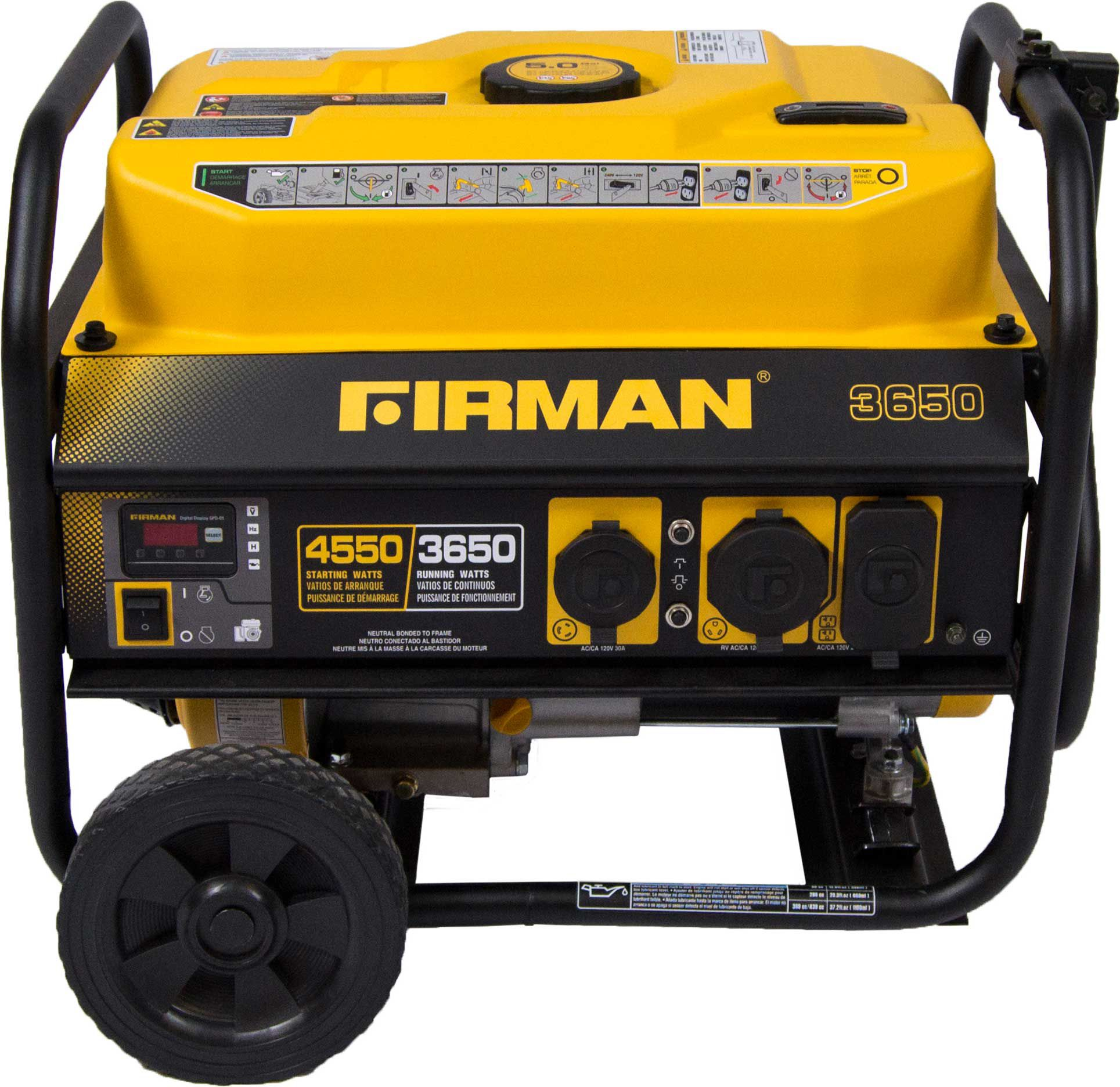 FIRMAN OHV W Portable Generator With Wheel Kit DICKS - Us address and zip code generator