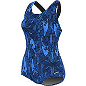 Dolfin Women's Printed Conservative Lap Racerback Swimsuit