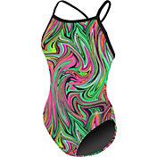 Dolfin Women's Winners Printed V Back Swimsuit