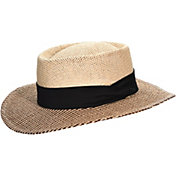 Dorfman Pacific Men's Straw Gambler Golf Hat