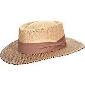Dorfman Pacific Men's Straw Gambler Golf Hat