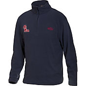 Drake Waterfowl Men's Ole Miss Camp Fleece Quarter Zip Pullover