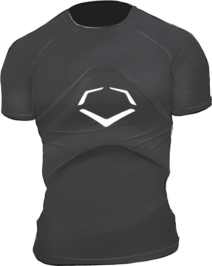 All-Star PHS5000T Teen Compression Shirt with D3O Heart Shield