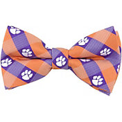Eagles Wings Clemson Tigers Checkered Bow Tie