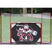 """EZGoal 72"""" Metal Street Hockey Goal & Backstop w/ Goalie Target"""
