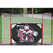 "EZGoal 72"" Metal Street Hockey Goal & Backstop w/ Goalie Target"