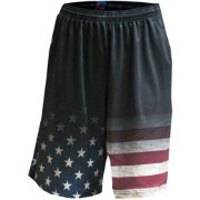 Fit 2 Win Men's USA Flag Fade Performance Shorts