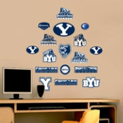 Fathead BYU Cougars Team Logo Assortment Wall Decals
