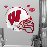 Fathead Wisconsin Badgers Football Helmet Wall Graphic