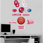 Fathead Oklahoma Sooners Team Logo Assortment Wall Graphic