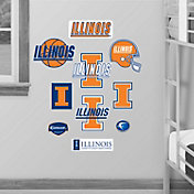 Fathead Illinois Fighting Illini Team Logo Assortment Wall Graphic
