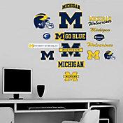 Fathead Michigan Wolverines Team Logo Assortment Wall Graphic