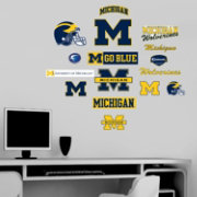 Fathead Michigan Wolverines Team Logo Assortment Wall Graphic