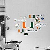 Fathead Miami Hurricanes Team Logo Assortment Wall Graphic