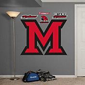 Fathead Miami Redhawks Block M Logo Wall Decal