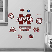 Fathead Mississippi State Bulldogs Team Logo Assortment Wall Graphic