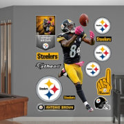 Fathead Antonio Brown #84 Pittsburgh Steelers Real Big Wall Graphic