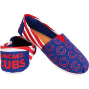 Forever Collectibles Women's Chicago Cubs Stripe Canvas Shoes