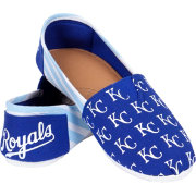 Forever Collectibles Women's Kansas City Royals Stripe Canvas Shoes