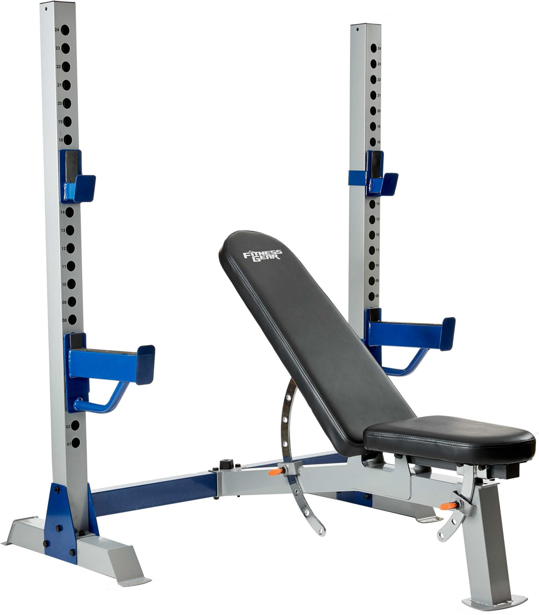 Free Weights On Bench: Fitness Gear Pro Olympic Weight Bench