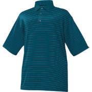 FootJoy Men's ProDry Performance Lisle Feeder Stripe Self Collar Golf Polo