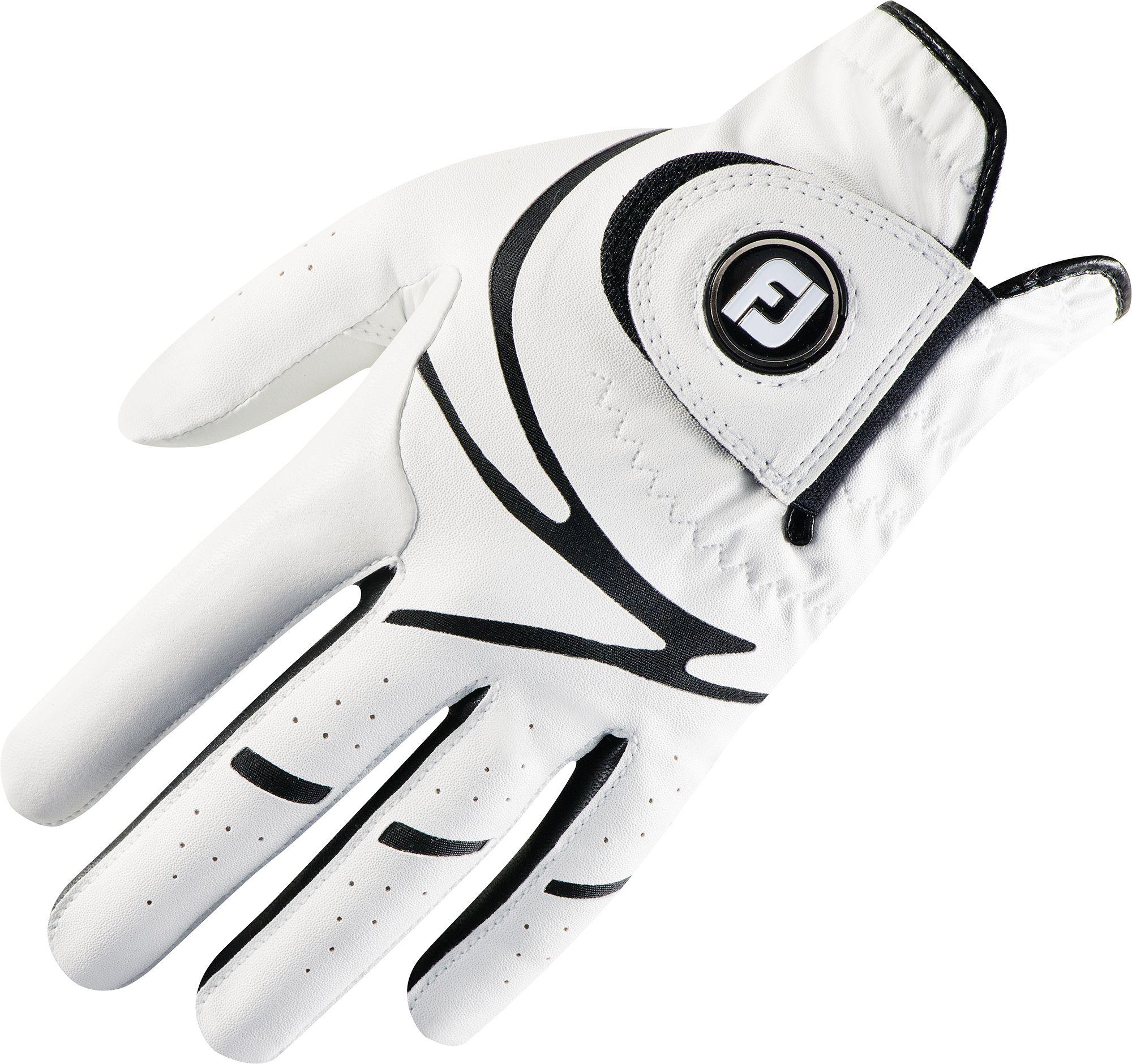 Black leather golf gloves - Noimagefound
